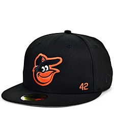 Men's Baltimore Orioles Jackie Robinson 50th Patch 59FIFTY-FITTED Cap