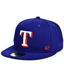 Texas Rangers Jackie Robinson 50th Patch 59FIFTY-FITTED Cap