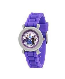 Disney Frozen 2 Elsa, Anna, Sven, Olaf Girl's Gray Plastic Time Teacher Watch 32mm