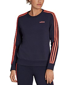 Women's Essentials 3-Stripe Fleece Sweatshirt