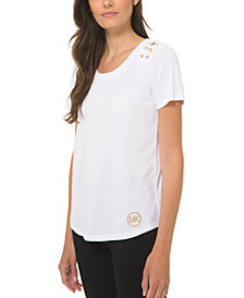 Michael Michael Kors Lacing-Detail T-Shirt