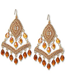 INC Gold-Tone Beaded Shaky Kite Drop Earrings, Created for Macy's