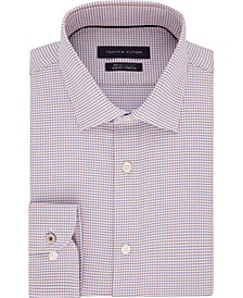 Men's Slim-Fit Non-Iron TH Flex Performance Stretch Check Dress Shirt