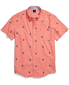 Men's Adaptive Custom Fit Toucan Short-Sleeve Shirt with Magnetic Buttons