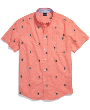 Tommy Hilfiger Men's Adaptive Custom Fit Toucan Short-Sleeve Shirt with Magnetic Buttons