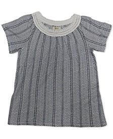 Crochet-Trim Flutter-Sleeve Top, Created for Macy's