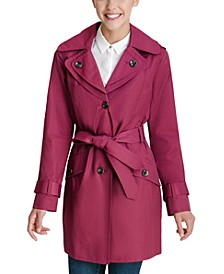 Double Collar Hooded Water-Resistant Trench Coat, Created for Macy's