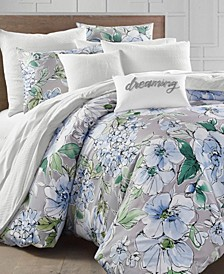 Floral Blooms 300-Thread Count Full/Queen Comforter Set, Created for Macy's