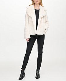 DKNY Faux-Fur Coat, Created for Macy's