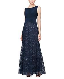 Rosette Tulle Gown