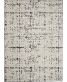 """Rustic Textures RUS06 Ivory and Blue 7'10"""" x 10'6"""" Area Rug"""