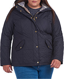 Barbour Plus Size Millfire Hooded Quilted Coat