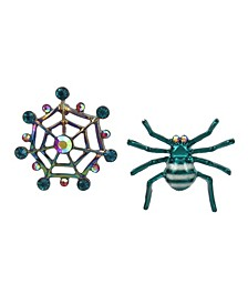 Spider Web Mismatch Stud Earrings