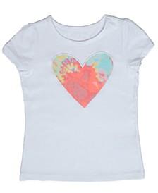 Toddler Girls Tie Dye Heart T-shirt