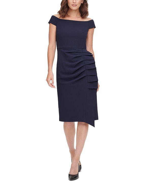 Eliza J Pleat-Detail Sheath Dress