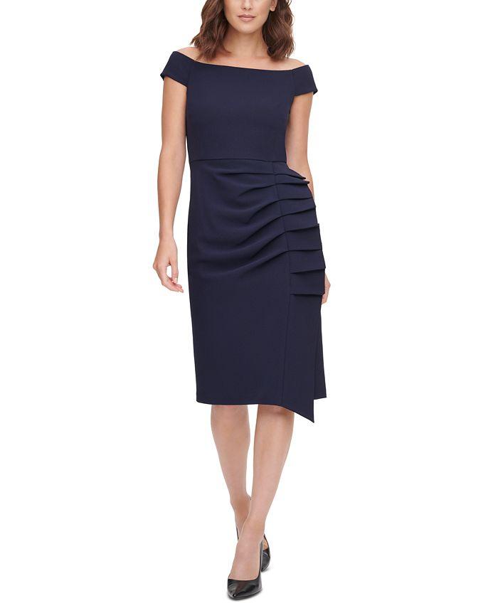 Eliza J - Pleat-Detail Sheath Dress