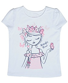 Little Girls Butterfly T-shirt