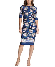 Jersey Floral Sheath Dress