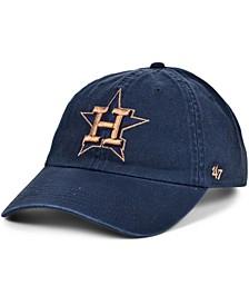Women's Houston Astros Metallic Clean Up Cap