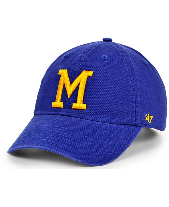 '47 Brand Milwaukee Brewers Cooperstown Clean Up Cap