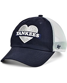 Girls New York Yankees Mermaid Heart MVP Cap