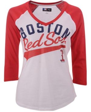 G-iii Women's Sports Boston Red Sox Its A Game Raglan T-Shirt