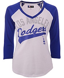 G-III Sports Women's Los Angeles Dodgers Its A Game Raglan T-Shirt