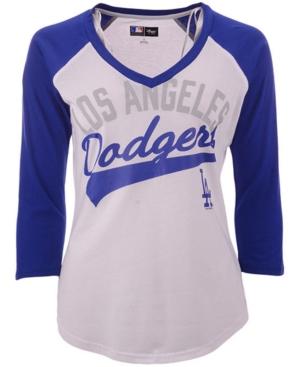 G-iii Sports Women's Los Angeles Dodgers Its A Game Raglan T-Shirt