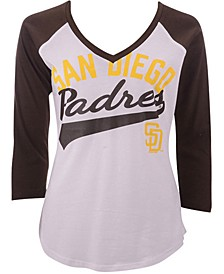 G-III Sports Women's San Diego Padres Its A Game Raglan T-Shirt