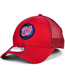 New Era Washington Nationals Logo Fill Trucker 9FORTY Cap
