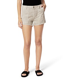 Seagrass Workwear Cut-Hem Denim Shorts