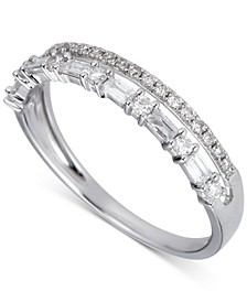 Diamond Double Row Band (3/8 ct. t.w.) in 14k White Gold