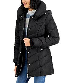 Madden Girl Juniors' Hooded Puffer Coat