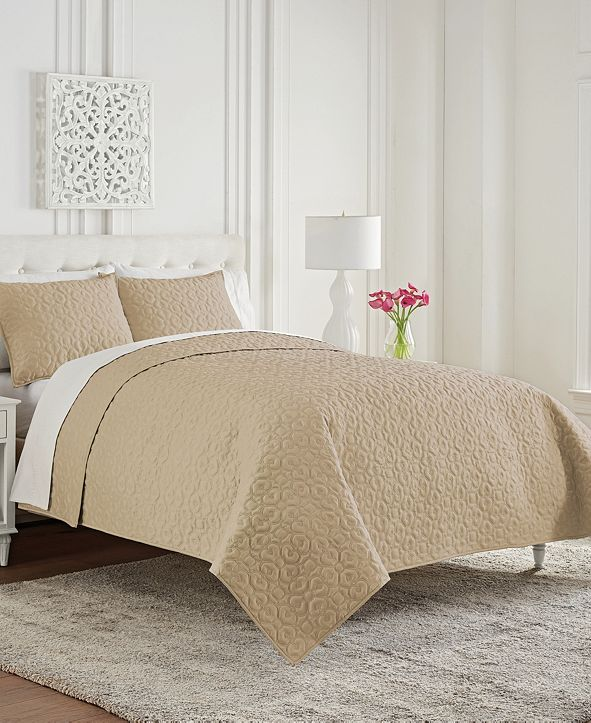 Waterford Mosaic Full/Queen 3 Piece Coverlet Set