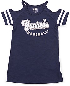 Girls New York Yankees Cold-Shoulder Top