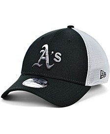 Oakland Athletics Black White Gradient Trucker 39THIRTY Cap