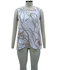 Petite Printed Crossover Top, Created for Macy's