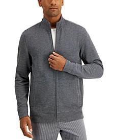 Men's Birdseye Full-Zip Sweater, Created for Macy's