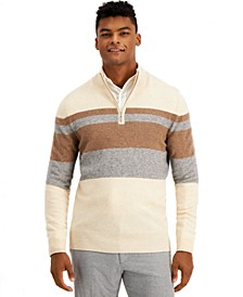 Men's Striped Cashmere Sweater, Created for Macy's