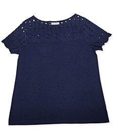 Cotton Woven-Yoke Top, Created for Macy's