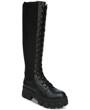 Women's Dinah Lace-Up Lug Sole Combat Boots Women's Shoes