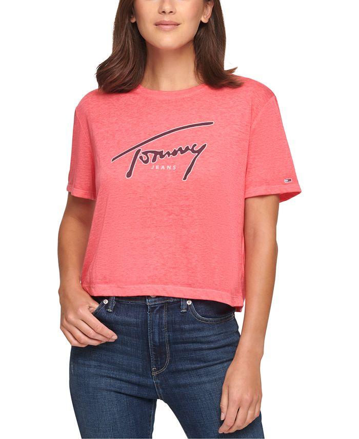 Tommy Jeans - Juniors' Cotton Burnout T-Shirt