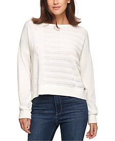 Cotton Embossed Sweater