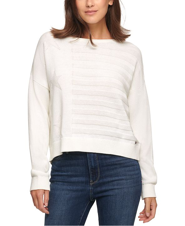 Tommy Jeans Cotton Embossed Sweater