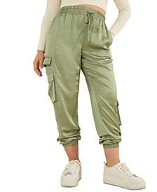 Annka Charm Solid Cargo Jogger Pants