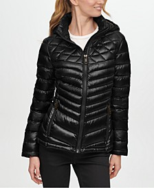 Shine Hooded Packable Puffer Coat, Created for Macy's
