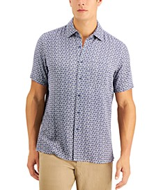 Men's Leaf Tile Print Shirt, Created for Macy's
