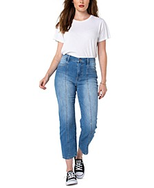 Juniors' Karpenter High Rise Straight-Leg Jeans