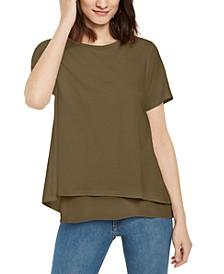Layered-Look Split-Back Top, Regular & Petite