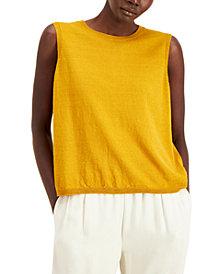 Eileen Fisher Organic Crewneck Sleeveless Sweater, Regular & Petite